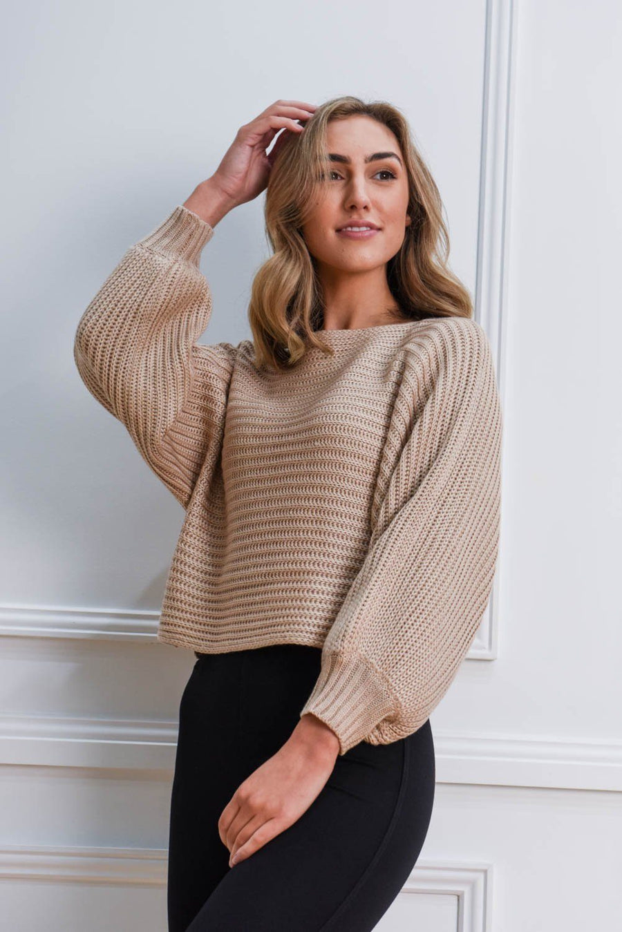 Nala Knit | Natural Top Gray Label