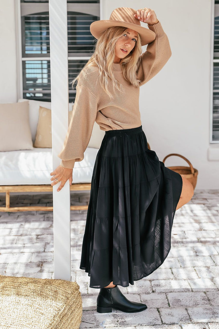 Natalia Skirt | Black Skirt Gray.Label