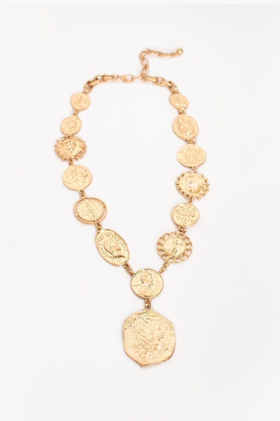 Necklace | LUXE COLLECTION - Roman Coin Necklace Necklace Linart Designs