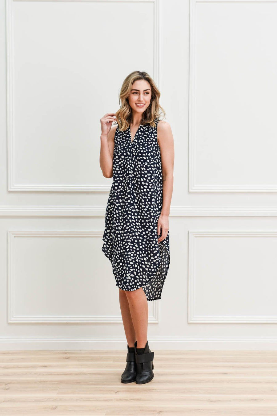 Piper Shirt Dress | Navy DRESS Gray Label