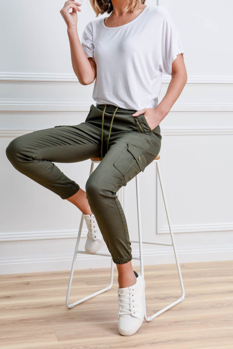 Preston Joggers | Khaki Joggers Gray Label
