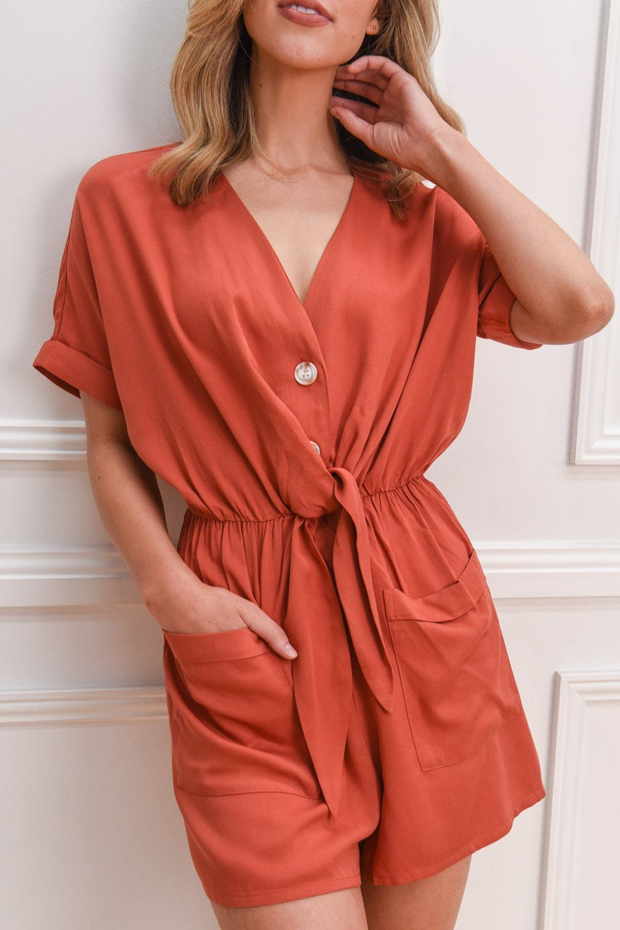 Renee Jumpsuit | Rust jumpsuit / romper Gray Label