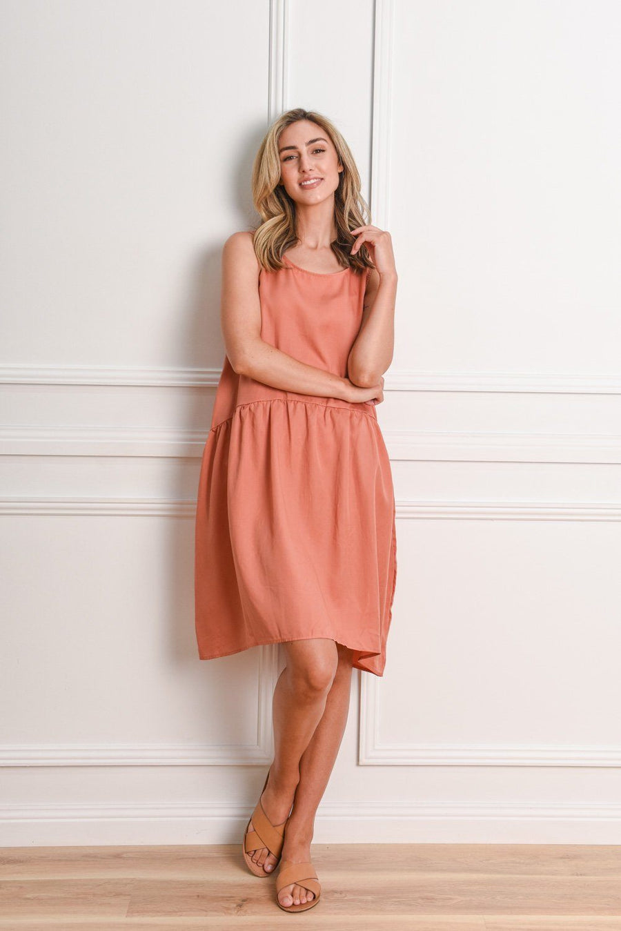Rhianna Cocoon Dress | Salmon Dress Gray.Label