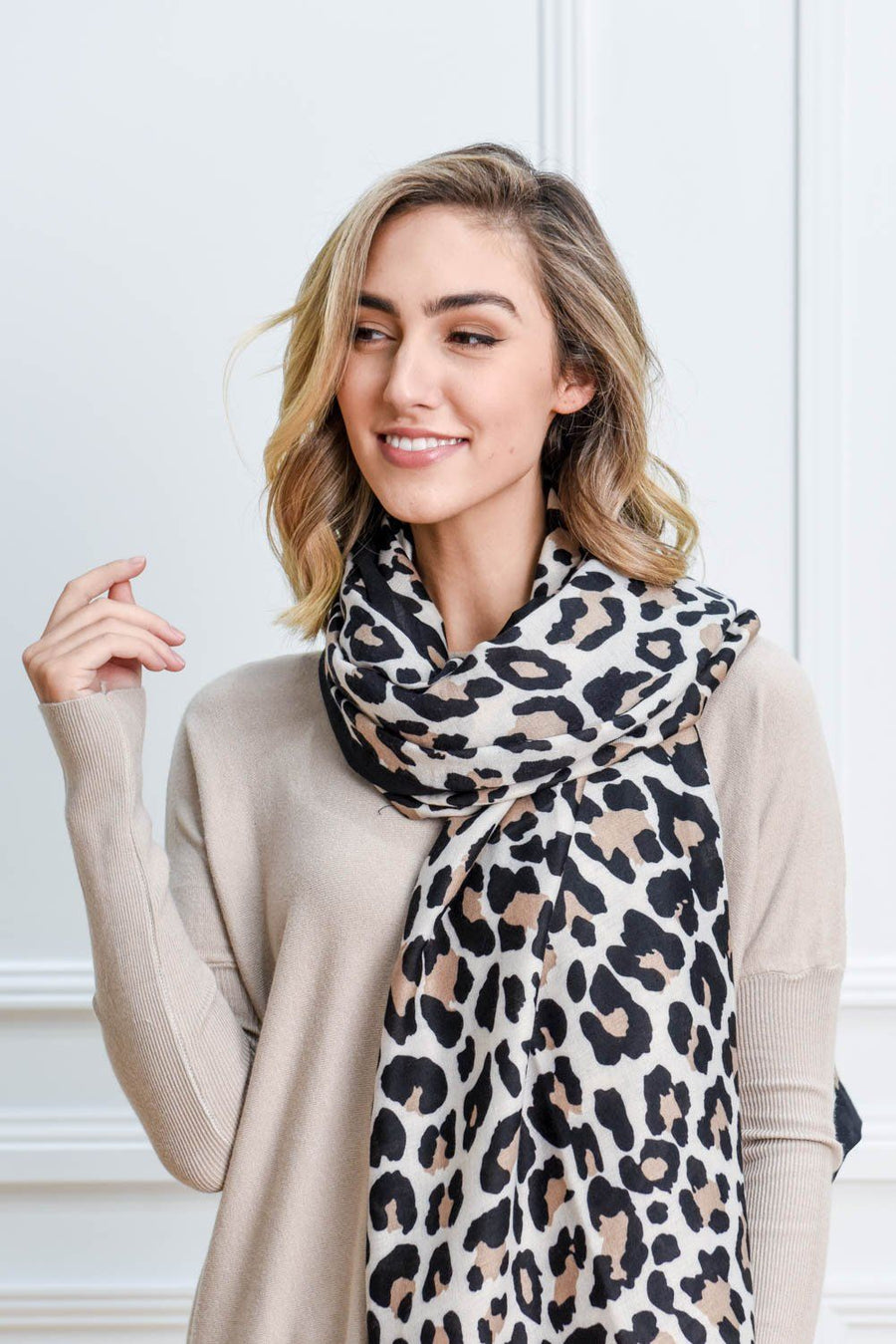 River Leopard Scarf Scarf Gray Label