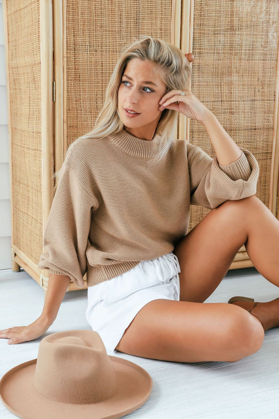 Sammi Knit | Camel Knit Gray Label