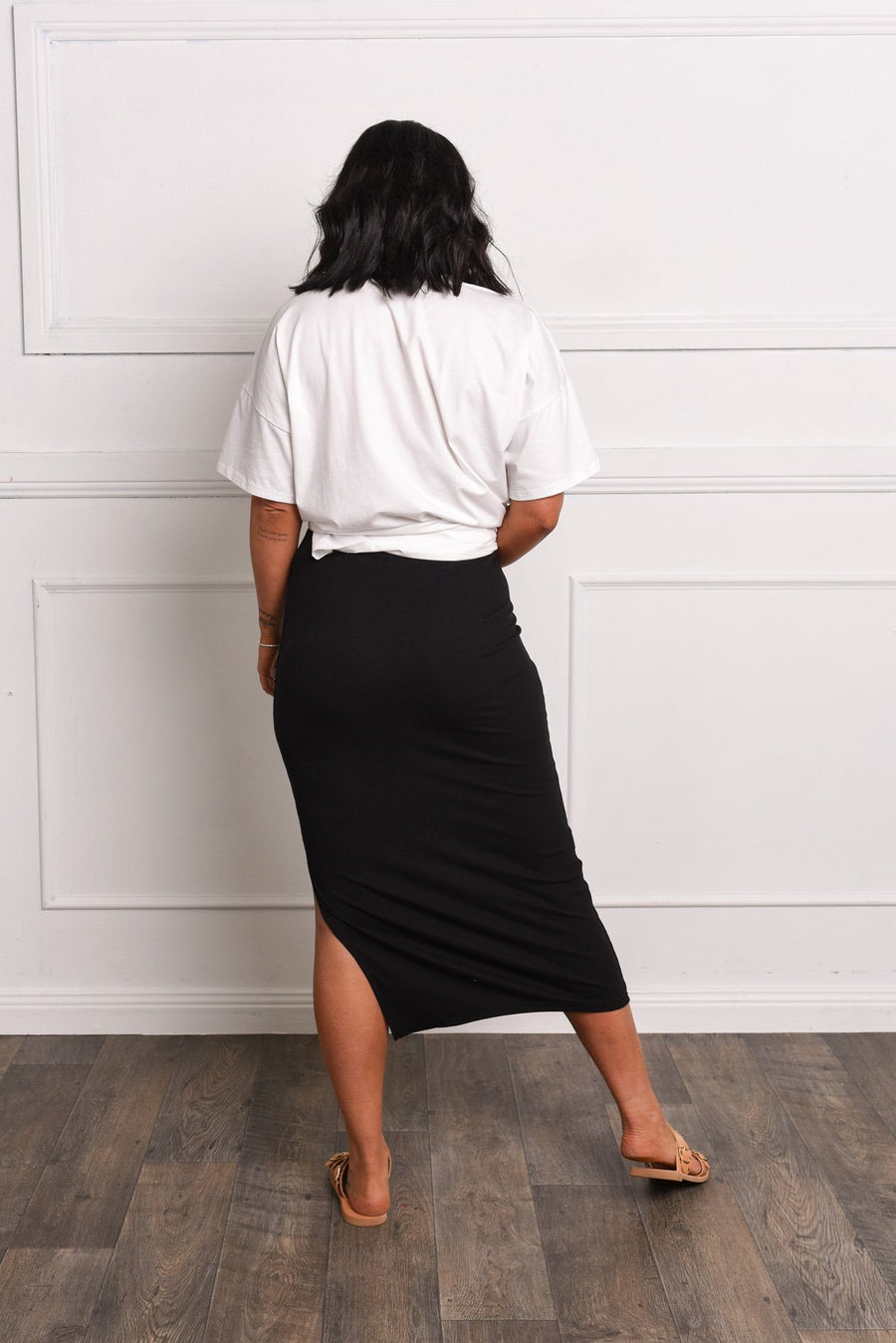 Sammi Ribbed Skirt - Gray Label Skirt Gray.Label
