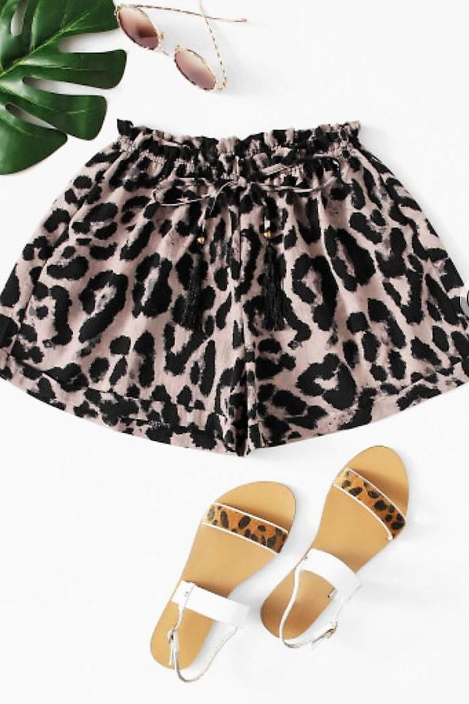 Samos Leopard Shorts Shorts Gray Label