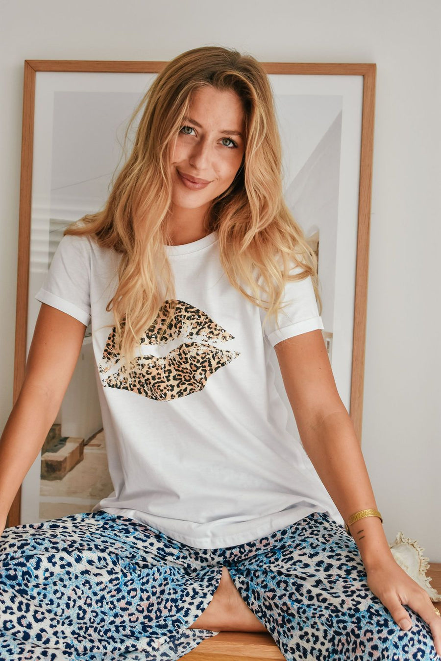 Sienna Leopard Tee Top Gray.Label