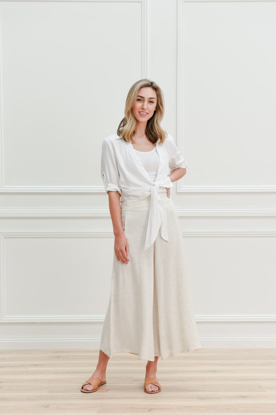 Sienna Linen Pants | Natural - Gray Label Pants Gray Label