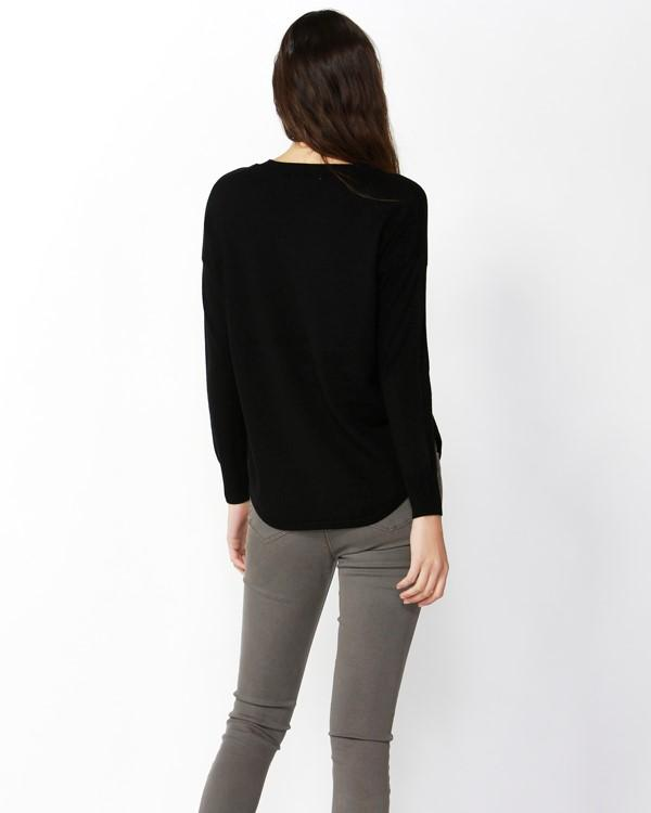 Sophie Knit Jumper | Black Skirt Gray Label