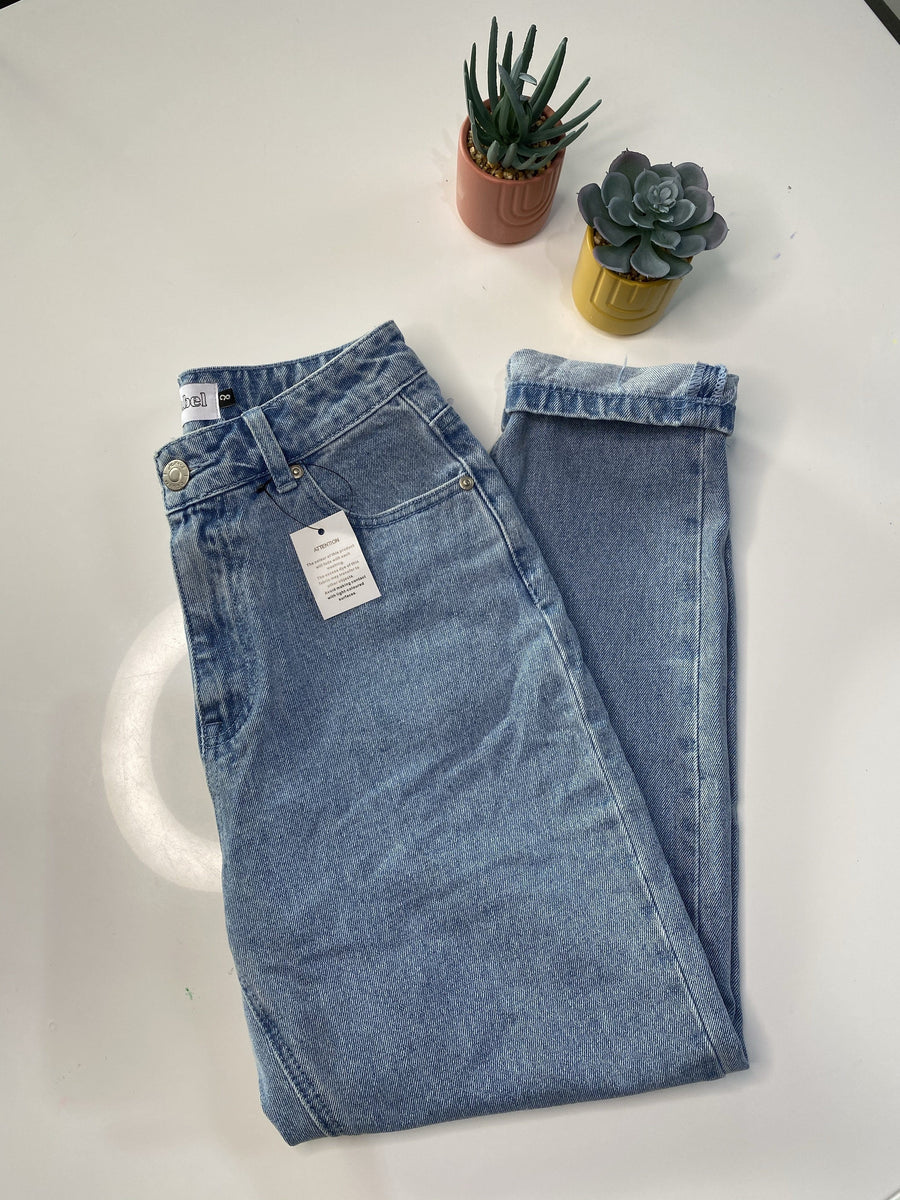 Sophie Mum Jeans | Light Blue Denimn Jeans Gray Label