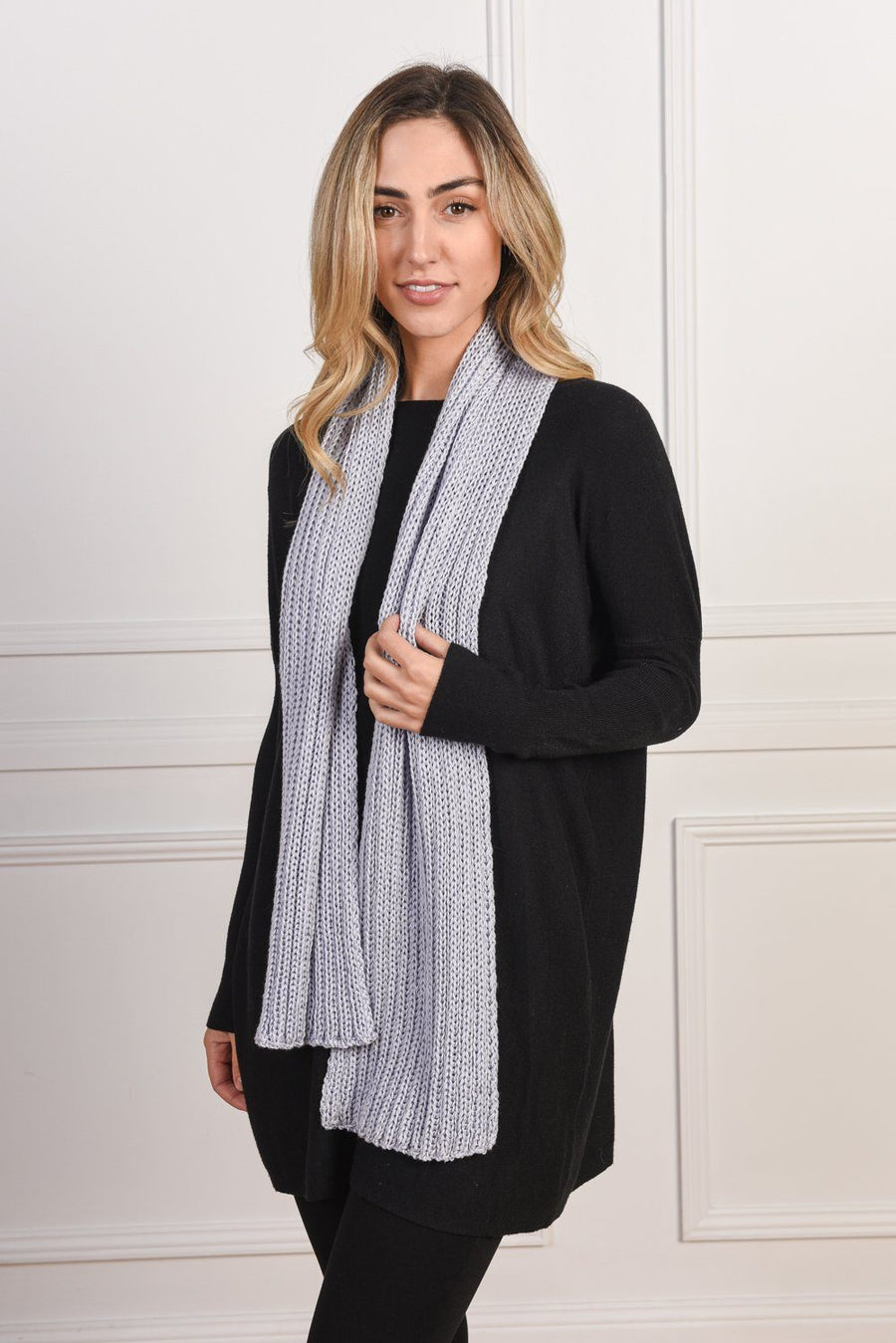 Stelle Scarf | Lavender Scarf Gray.Label