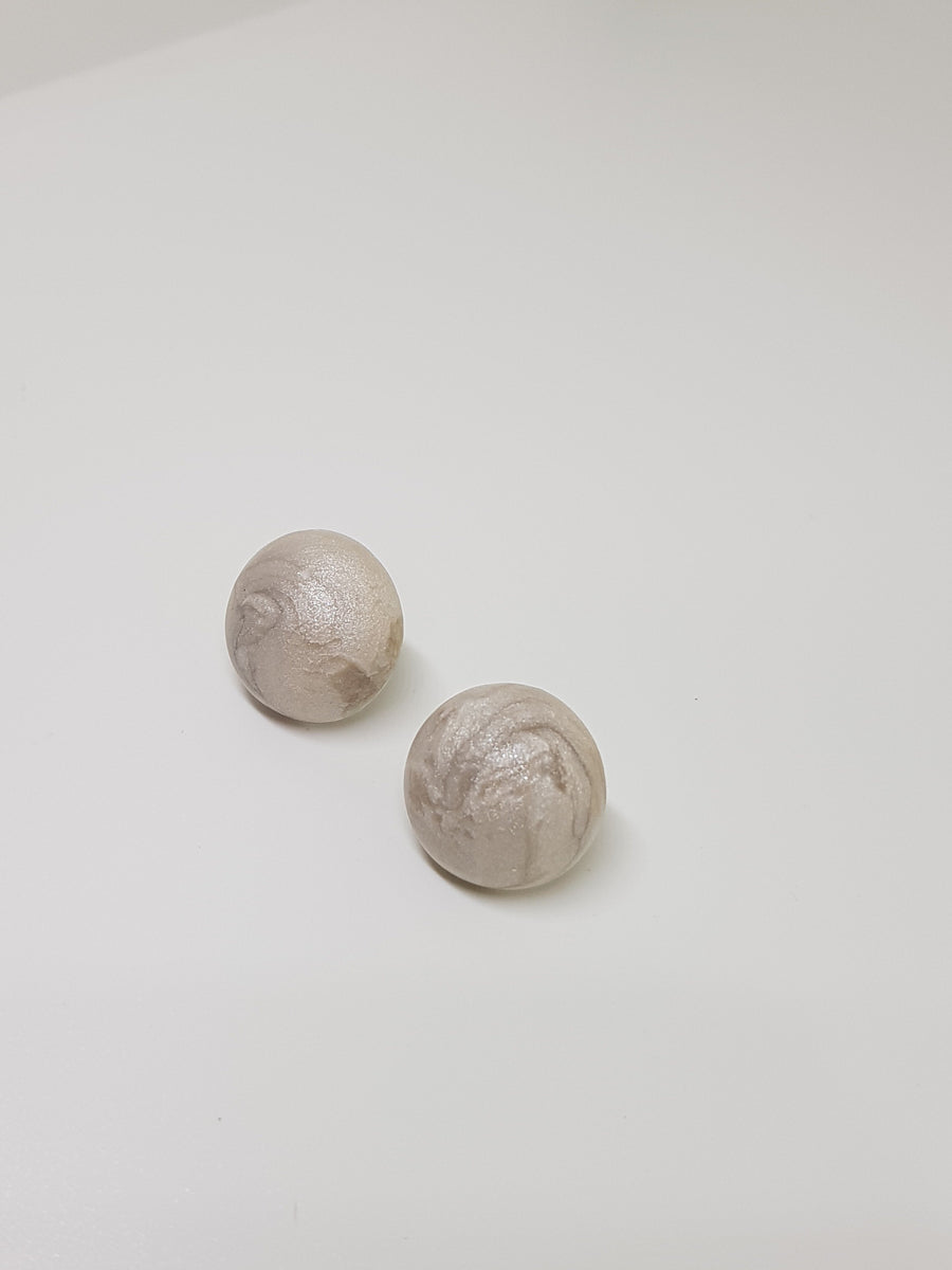 Studs | Mother Of Pearl Ball Studs 13mm Earrings Linart Designs