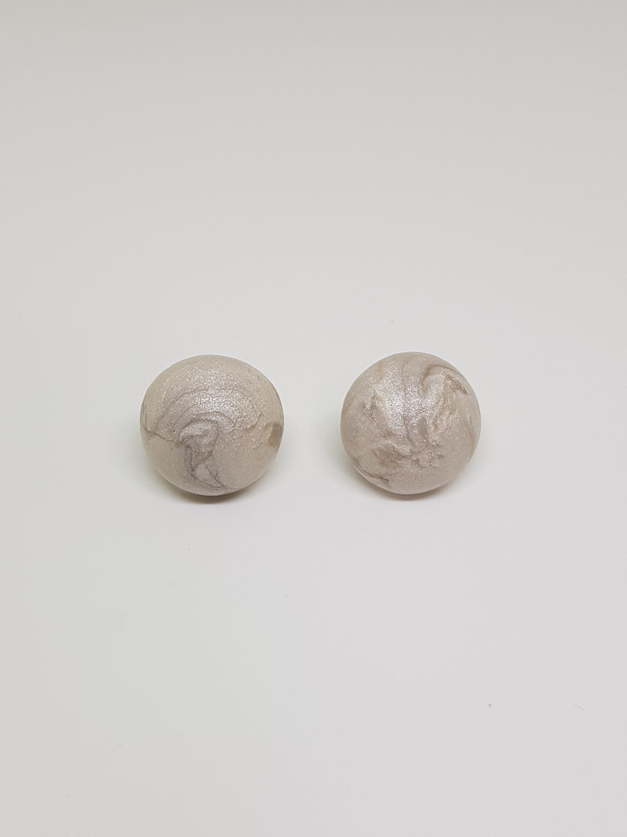 Studs | Mother Of Pearl Ball Studs 18 mm Earrings Linart Designs