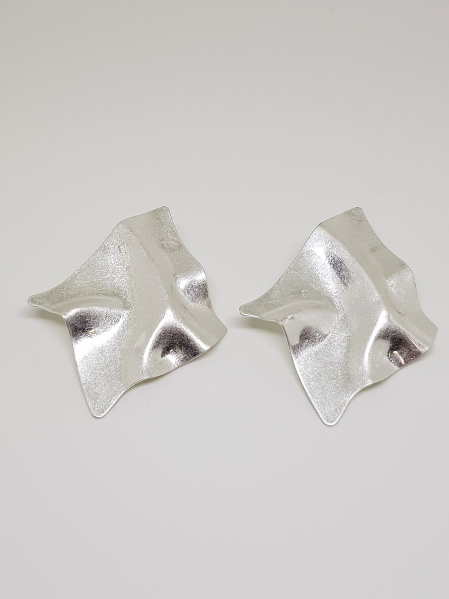 Studs | Silver Scrunchies Earrings Linart Designs
