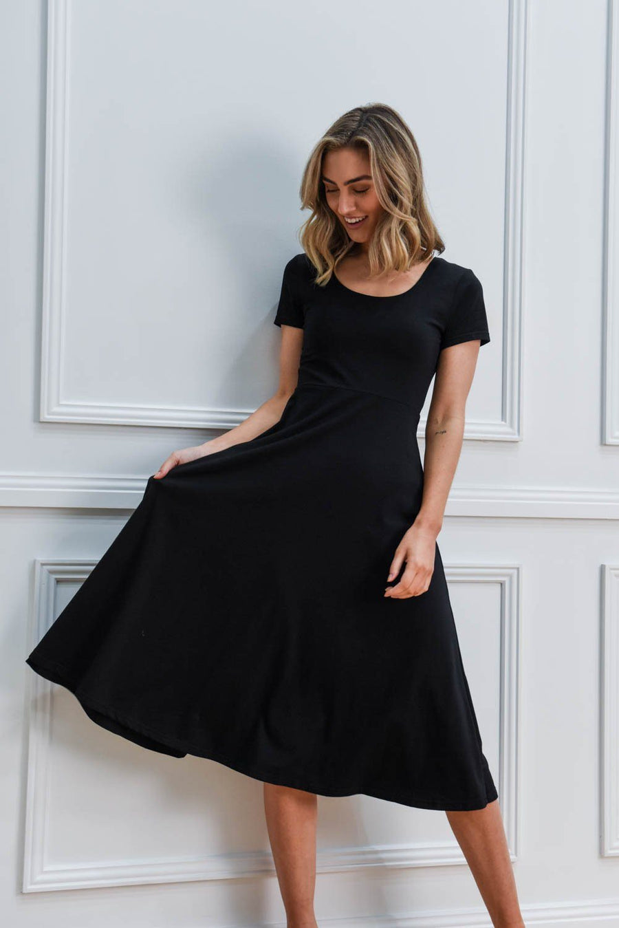 Tara Dress | Black Dress Gray Label
