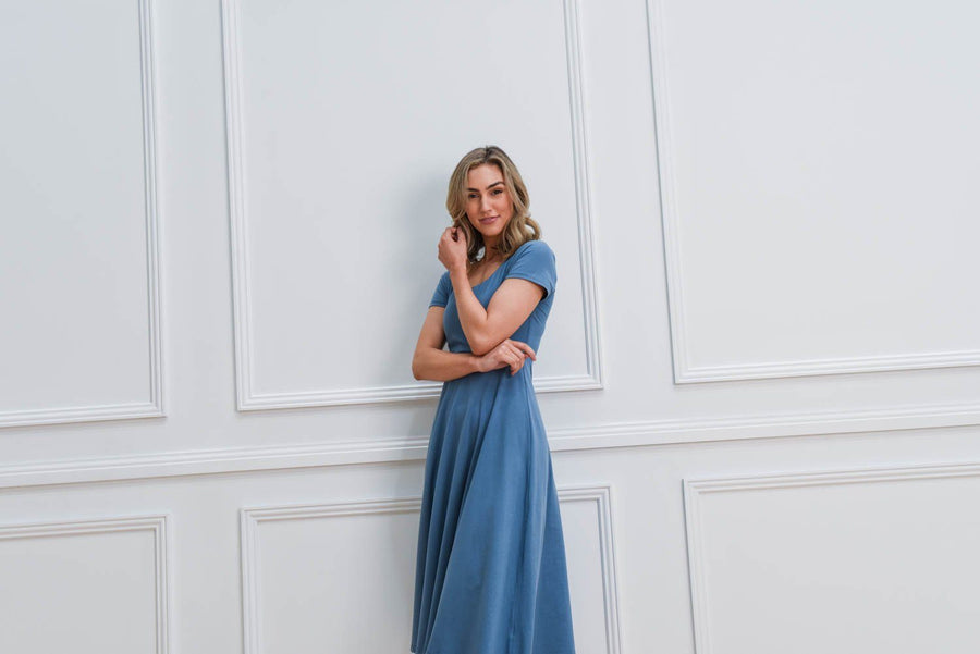 Tara Dress | Blue Dress Gray Label