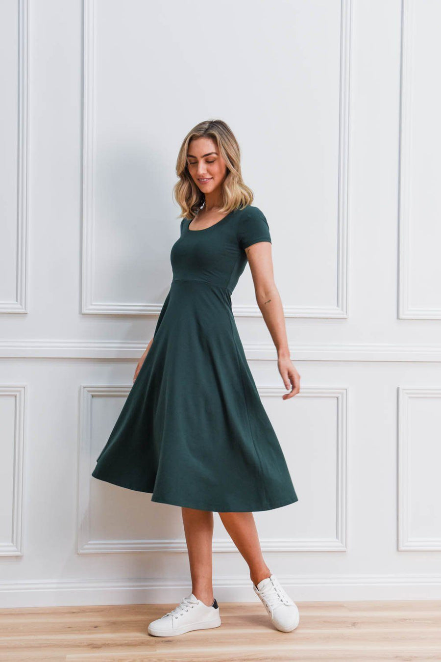 Tara Dress | Emerald Dress Gray Label