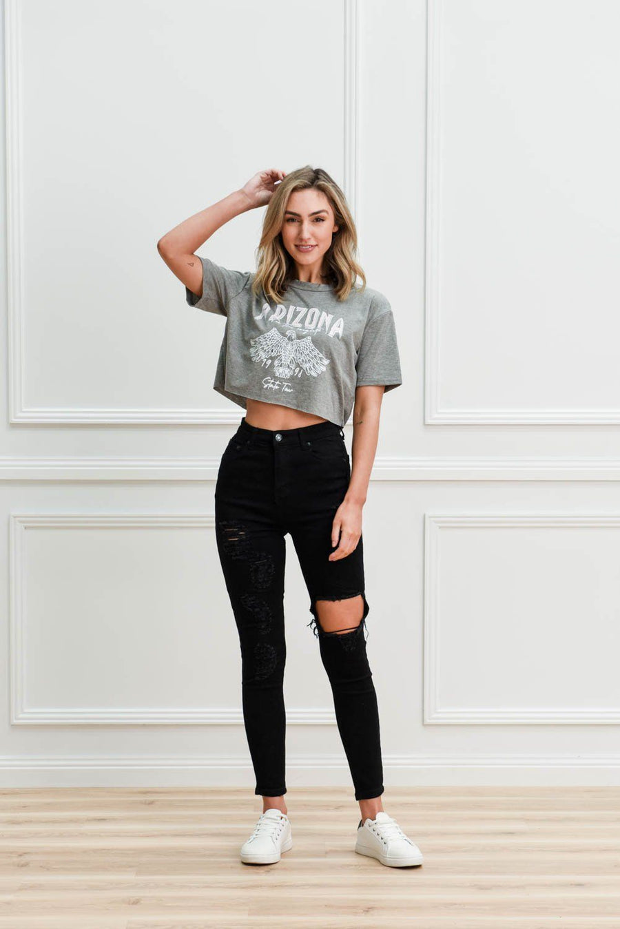 Tess Ripped Jeans | Black Jeans Gray Label