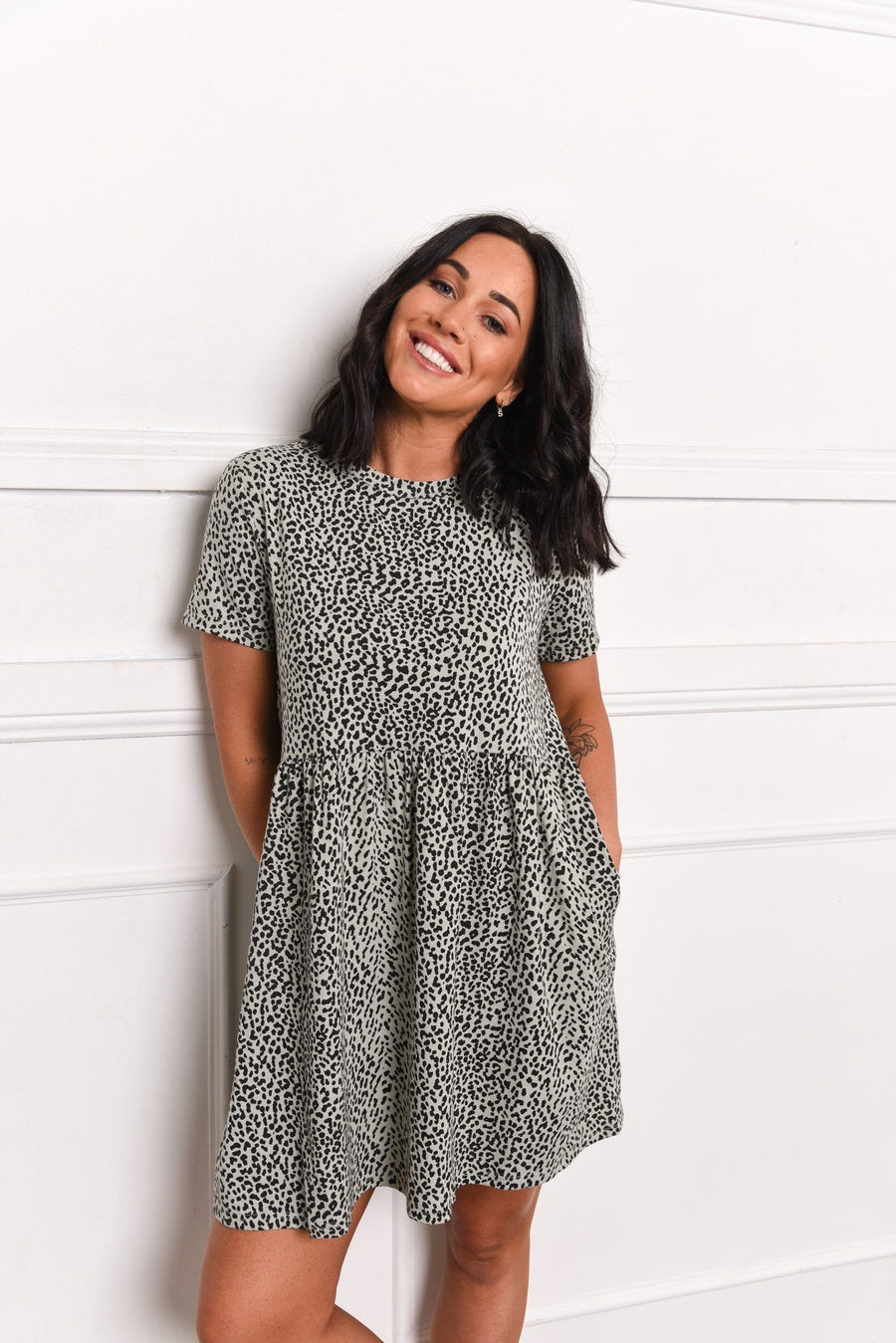Zoe Dress | Mint Leopard - Gray Label Dress Gray.Label