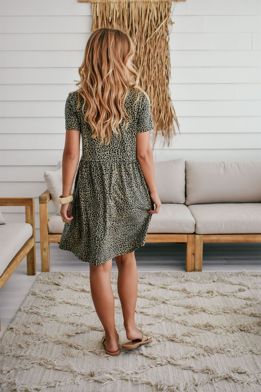 Zoe Dress | Olive Leopard - Gray Label Dress Gray.Label