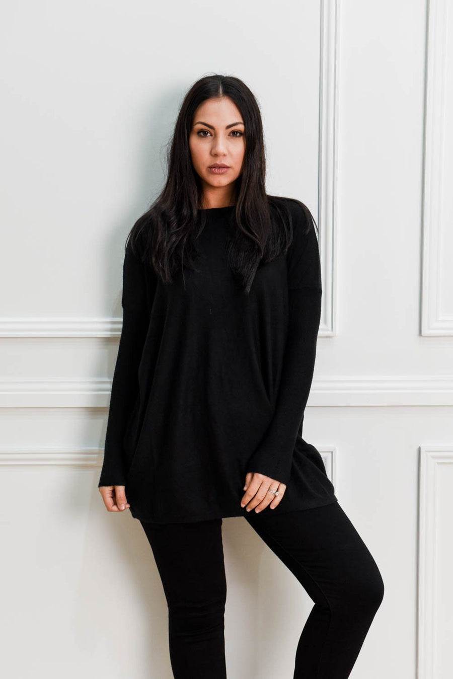 Zoe Knit | Black Knit Gray Label