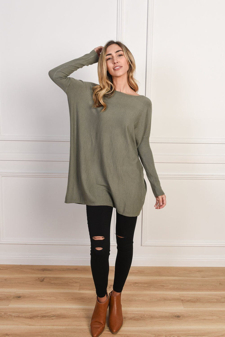 Zoe Knit | Khaki - Gray Label Knit Gray Label