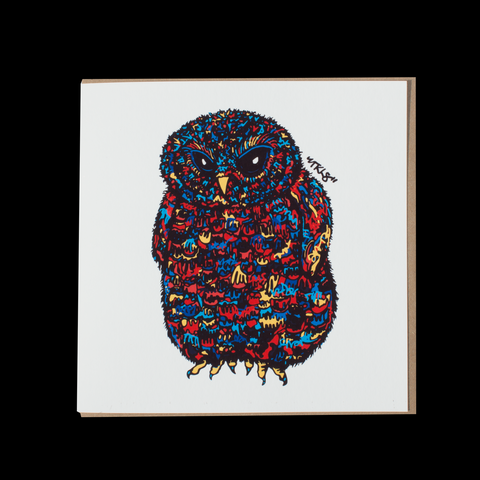 "City Animalz ""Ninja Owl Original"" <p> 150mm Square Greetings Card"