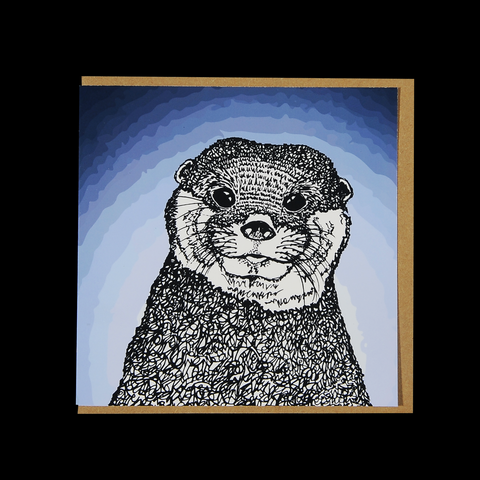 """Wild Warrior #3"" <p> 150mm Square Greetings Card"