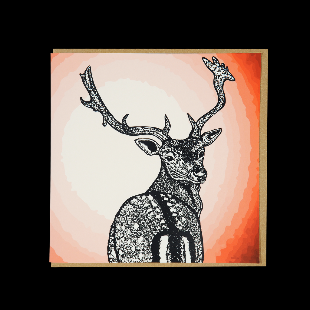 """Wild Warrior #7"" <p> 150mm Square Greetings Card"