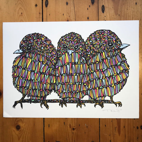 """Three Little Birds"" Art Print"