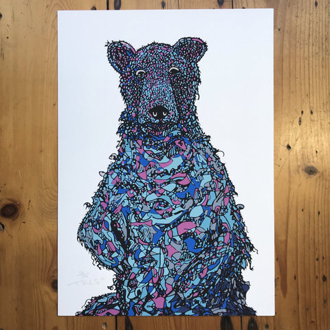 """Blueberry Bear"" Art Print"