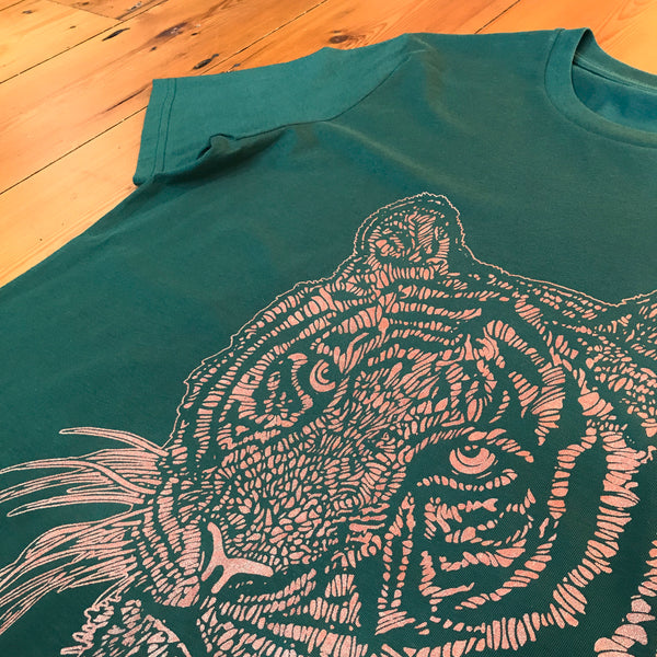 "Organic cotton t-shirt<p>""Totem Tiger"""