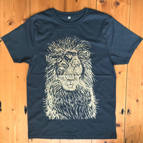 """Out the Shadows #1 lion"" dark charcoal gold"