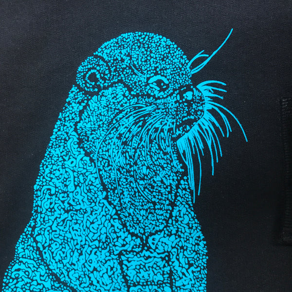 "Organic Cotton Jumper ""Harry Otter"" Black/Turquoise"