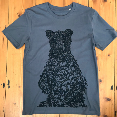 """Blueberry Bear"" anthracite matt black"