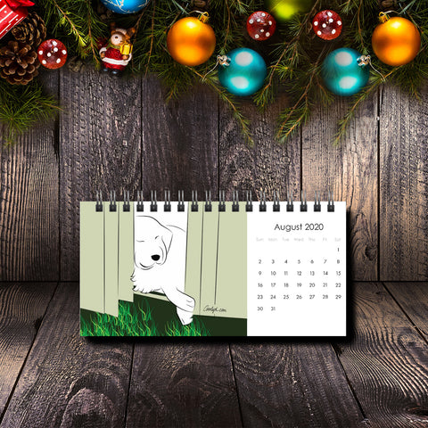 2020 Great Pyrenees Premium Desk Calendar