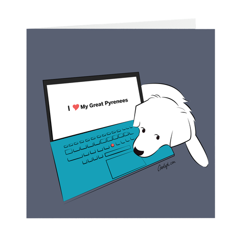 Blank Cards - Techie Puppy