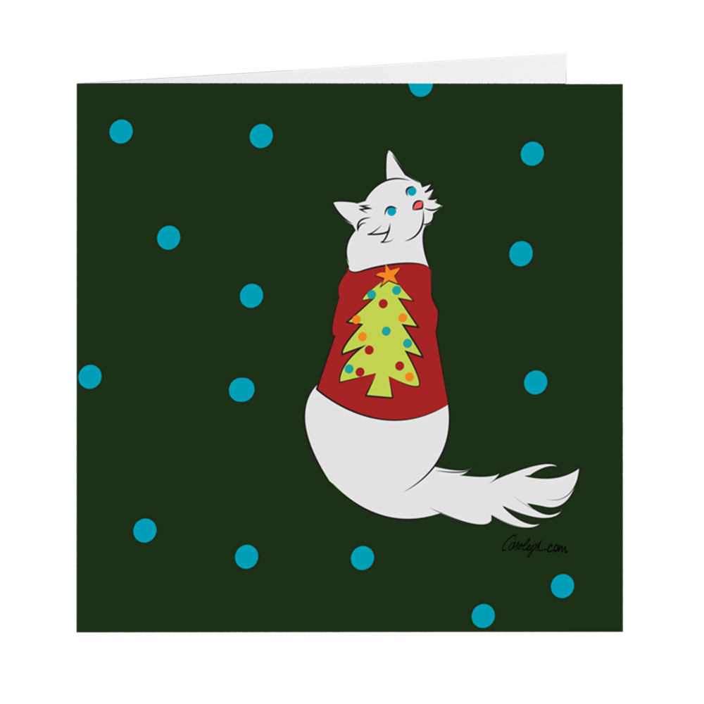Folded Cards - Pretty Kitty Ugly Sweater