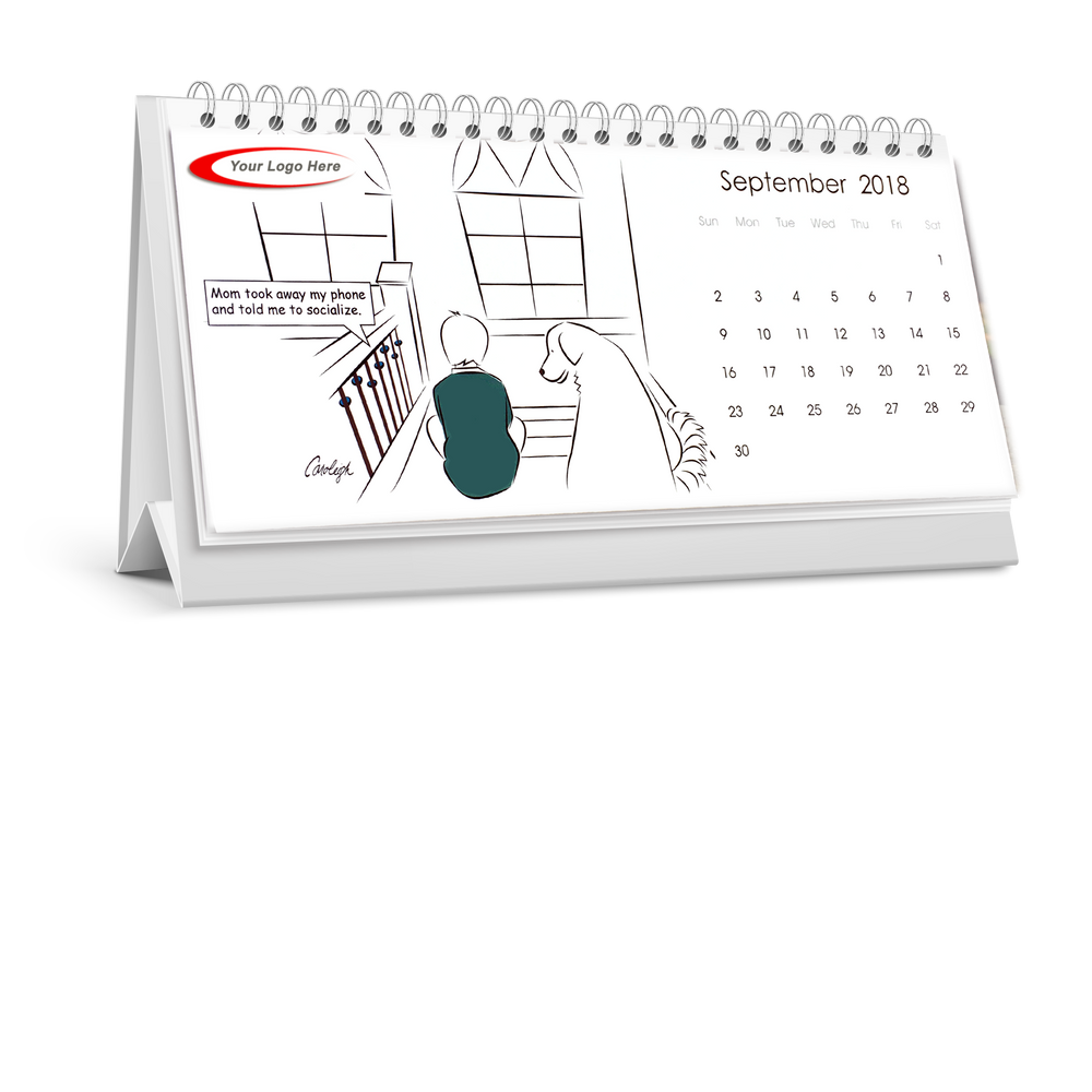 Branded 2018 Value Desk Calendar - With Your Logo