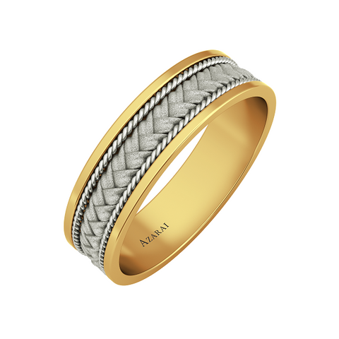 Patagonia 9kt gold wedding band - Azarai - 1