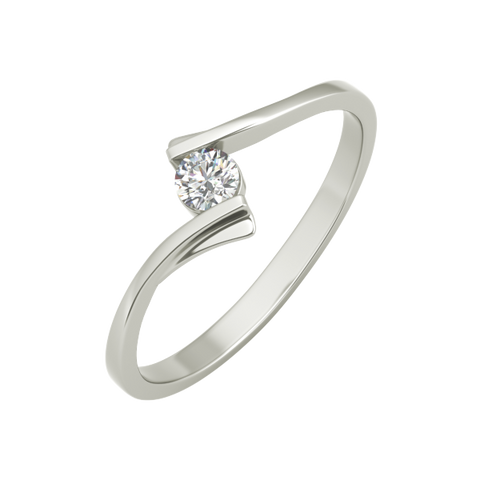 Diana sterling silver engagement ring - EJ Cole