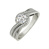 Seacrest sterling silver engagement ring - Azarai - 1