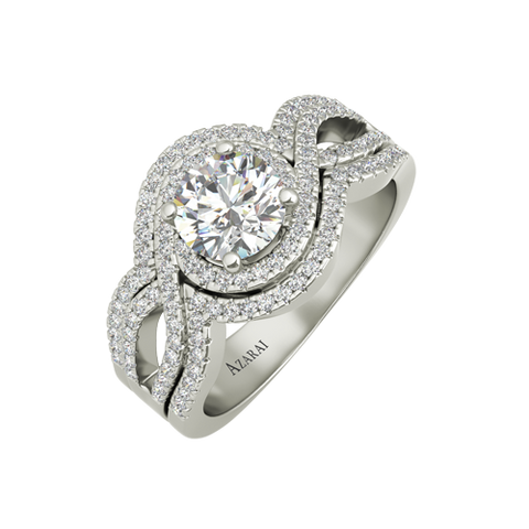 Brianna sterling silver engagement ring - Azarai - 1