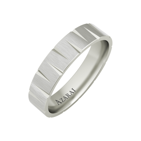 Atlantic sterling silver wedding band