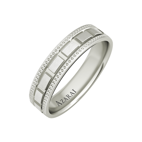 Langston sterling silver wedding band