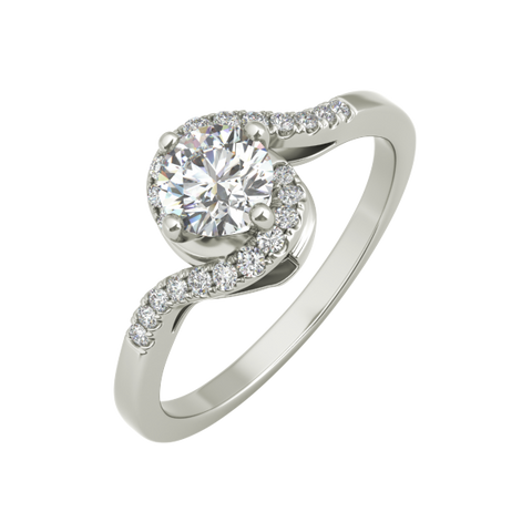 Agatha sterling silver engagement ring - EJ Cole