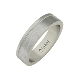 Stratus titanium wedding band - Azarai - 1