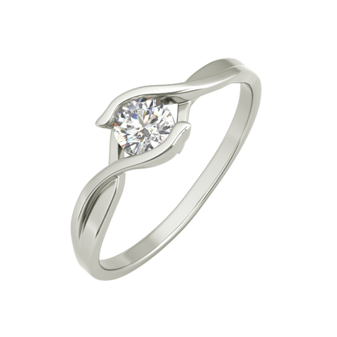 Teresa sterling silver engagement ring - EJ Cole