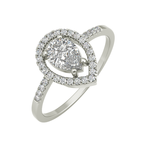 Lara sterling silver engagement ring - EJ Cole